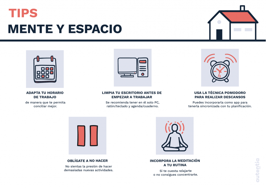 Infografía con los tips descritos