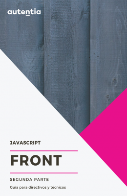 portada abstracta de front javascript