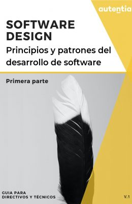 Portada documento Software design con una imagen abstracta de una pluma