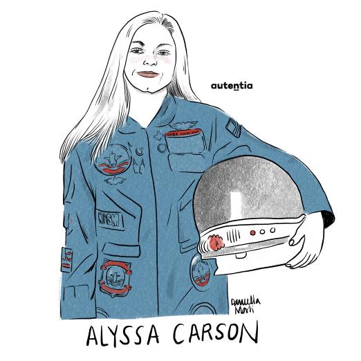 Ilustración de Alyssa Carson por Daniella Martí
