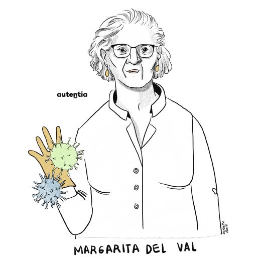 Ilustración de Margarita del Val por Daniella Martí